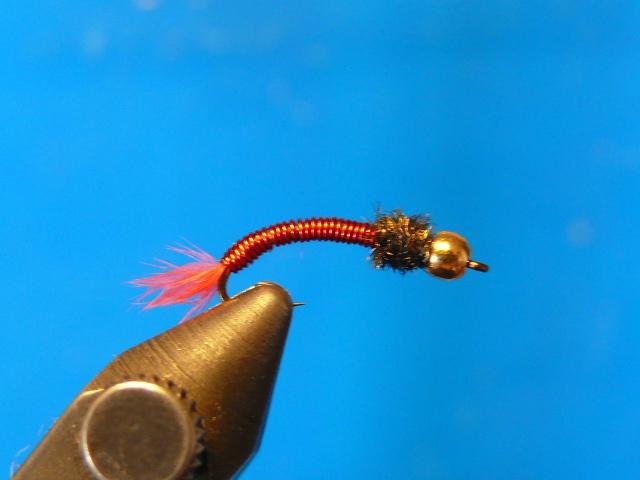 Buzzer Red VZ. пучок бородок марабу подходящего цвета.  Хвостик. проволока для плетения жестких конструкций из бисера.