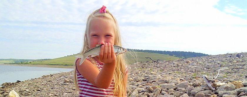 Сказ про то, как мы с дочкой леща ловили